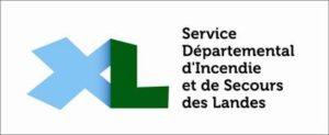 Logo SDIS 40 , sercice départemental d'incendie et de secours 2